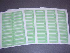 100 Blank Green Juke Box Labels Jukebox * FREE S&H *