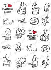 20 MARCHING BAND LOVE MUSIC WATER SLIDE NAIL ART DECALS-10  DESIGNS  NAIL DECALS