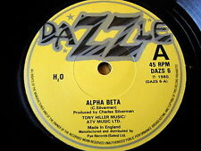 "H2O - ALPHA BETA  7"" VINYL"