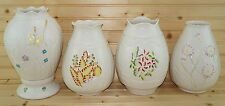 Belleek Seasonal Hurricane Lamp Collection Complete Set of 4 plus Base