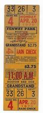 1970 4/20 baseball ticket Baltimore Orioles v Boston Red Sox  Jim Palmer WIN