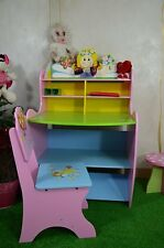 040 childrens study desk home table and stool wooden chair work reading