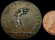 P722: 1793 Trade Conder Token : Manchester Halfpenny : D&H Lancs.135e