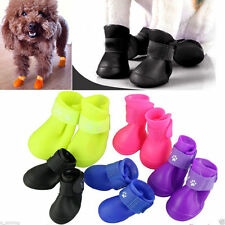 4Pcs Dog Cat Rain Protective Boots Waterproof Puppy Pet Shoes Boots Anti-Slip #w