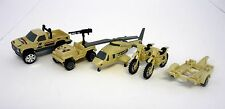 TONKA ACTION SET G.I. Joe Vehicle Trucks Helicopter Dirt Bikes NOT COMPLETE 1992