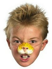 Childs Tiger Nose Whiskers Costume Latex Mask Childrens Leopard Cat Cheetah NEW