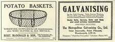 1926 Robert Mcdonald Potato Baskets Glasgow Metropolitan Galvanising Wandsworth