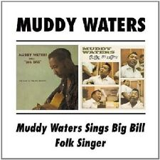Muddy Waters Sings Big Bill/Folk Singer 2on1 CD NEW SEALED Blues