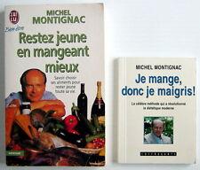 LIVRES DE 1997-98, RESTEZ JEUNE EN MANGEANT MIEUX + JE MANGE, DONC JE MAIGRIS !