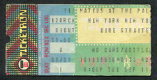 Original Dire Straits 1979 Concert Ticket Stub Palladium NY Money For Nothing