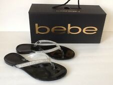 BEBE AUDRIELLA FLAT BLACK JELLY SLIPPERS,     SIZE 7 DISCOUNTED!!!