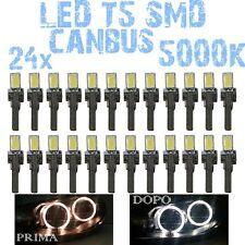 N° 24 LED T5 5000K CANBUS SMD 5630 for lights Angel Eyes DEPO FK BMW X5 E53 1E6