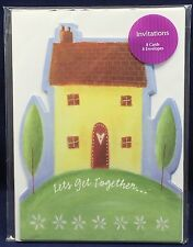 8 Let's Get Together Party Invitations and Envelopes House Warming Neighborhood