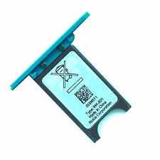 100% Genuine Nokia Lumia 800 SIM card slot tray holder slide cover door blue
