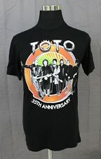 NWOT TOTO 35th Anniversary Men's Concert T-Shirt Size Medium Black 100% Cotton
