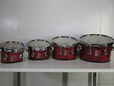 "Premier 8-10-12-13"" Revolution Marching Tenors - Red Lacquer Marching Drums"