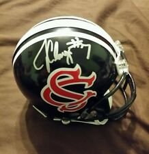 jadeveon clowney custom south carolina signed mini helmet w/jsa coa