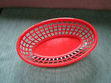 6 Red Plastic Picnic Baskets, Great for Fast Food, Meals Snack, FREE SHIPPING