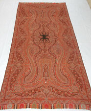 Antique asian indian large 19Th siècle cachemire laine châle paisley (L311)