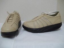NEW MBT WOMEN'S CASUAL SAND LEATHER SHAPE UP ROCKER TONING WALKING SIZE 9.5