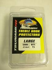 Tsunami 15pk Treble hook covers / protectors LRG Fishing