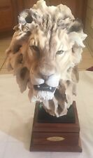 "Mill Creek Studios ""Lionheart"" Lion Sculpture Randall Reading - 24in tall 25lbs"
