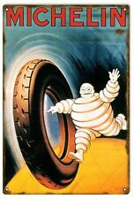 """Michelin Tire Man weathered metal sign (rv 12""""18"""")"""