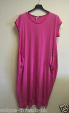 NEW Italian LAGENLOOK Balloon Dress BOHO Jersey Soft Stretch COTTON Pocket Tunic