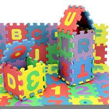 36PCS/Set Alphabet & Numerals Educational Toy Soft Foam Mats Baby Kids PlayMats