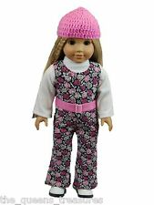 "18"" Doll Clothing Fits American Girl Doll 60's Jumper Hat Shirt Clothing #SGP"