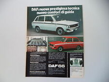 advertising Pubblicità 1973 DAF 66 MARATHON STATIONCAR/BERLINA