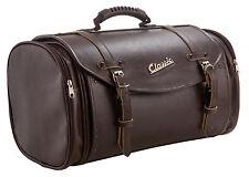 Tasche Koffer 35 Liter Echtleder Imitat in Braun Retro-Look universal für Roller
