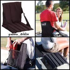 Black Stadium Bleacher Cushion Chair, Padded Folding Portable Practical Seat