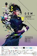 "GEM ""GET EVERYBODY MOVING 2011"" HONG KONG CONCERT TOUR POSTER - J-Pop Music"