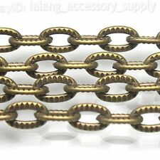 1m Bronze Cross-link Necklace Chain Finding 8mm 130237