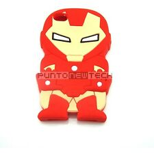 Cover CUSTODIA per IPHONE 5 5S Silicone 3D SUPEREROI IRON MAN