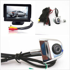 """Car License Screw Reverse Backup Parking Camera & 4.3"""" LCD Monitor Kits For Jeep"""