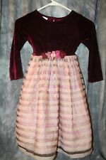 r- CLOTHES CHILDS SZ 4 TEA LENGTH HOLIDAY STYLE VELOUR TOP LAYERED SKIRT CUTE