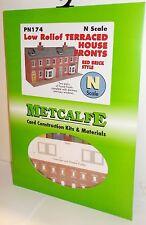 Metcalfe-BASSO sollievo terraced House fronti, rosso mattone (N) pn174-modello ferroviario