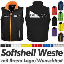 SOFTSHELL WESTE / Bodywarmer schwarz-orange inkl. Ihrem Wunschdruck Logo Druck