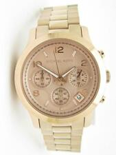Michael Kors MK-5128 Runway Rose Gold Chronograph Dial Date Watch New Gift