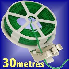 2 X 30M GARDEN TWIST TIE WIRE REEL WITH CUTTER PLANT BUSH FLOWER STRONG SUPPORT