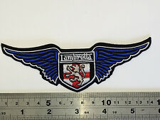 Lambretta Wings BLUE Patch - Embroidered - Iron or Sew On