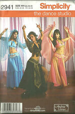 BELLY DANCE/ HAREM COSTUMES - SIMPLICITY- DANCE STUDIO Pattern # 2941