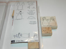 Stampin Up It's Snow Time Stamp Set of 12 (Partially UM) Snowmen Cold Twigs Star