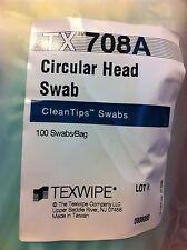 100 pcs TX-708A ITW CleanTips CLEANROOM SWABS Large Circular Head TX708A swabs