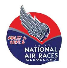 Cleveland, OH   National Air Races 1932    Vintage-1930's Style Travel Decal