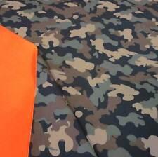 Stoff Meterware Softshell Camouflage Tarndruck braun khaki wasserabweise Outdoor