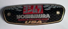 Yoshimura USA Aluminum Plate Decal Exhaust System Sticker Black