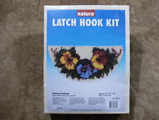 "Pansey Garland 16"" x 33"" Latch Hook Kit - National Yarn Crafts - New & Sealed"